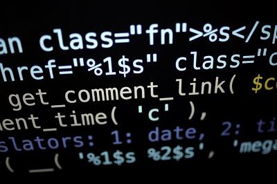一般的なプログラミングコード画面